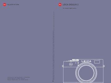 The analog digital camera LEICA DIGILUX 2