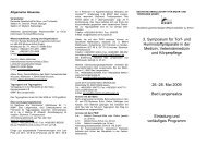 3. Symposium für Torf - Deutsche Gesellschaft für Moor
