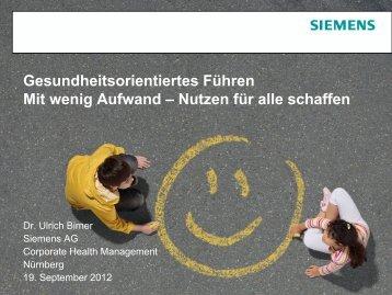 Vortrag von Dr. Ulrich Birner - gesund-fuehren.net