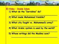 "E) Video – Inside Islam 1) What do the ""Dervishes"" do ... - fsemsgallen"