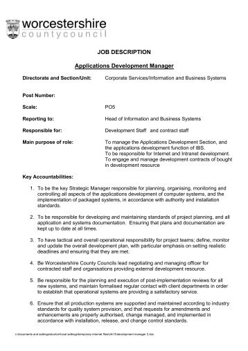 Business Development Manager Job Description - Wilson Mohr