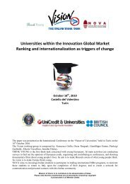 Vision: Universities within the Innovation Global Market.
