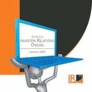 INVESTOR RELATIONS ONLINE - IR Top