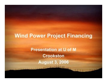 Project Financing PPT - Clean Energy Resource Teams