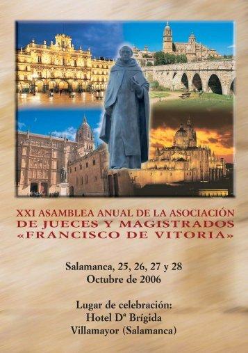 Programa de la Asamblea - Asociación de Jueces Francisco de Vitoria
