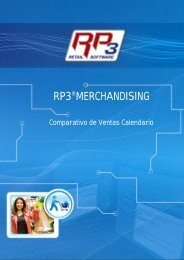 Comparativo de Ventas Calendario - RP3 Retail Software