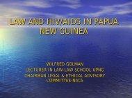 LAW AND HIV/AIDS IN PAPUA NEW GUINEA - PNGbuai.com