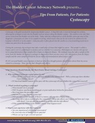 Patient Tipsheet on Cystoscopy - Bladder Cancer Advocacy Network