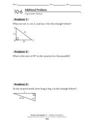 Additional Problems What are sin A, cos A, and tan ... - MathChamber