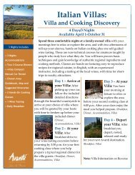 Villa and Cooking Discovery - Avanti Destinations