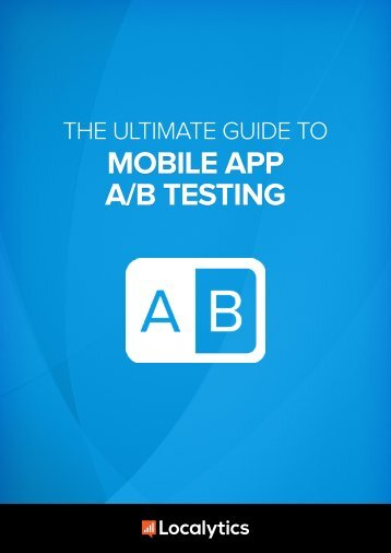 ebook The Ultimate Guide to Mobile AB Testing
