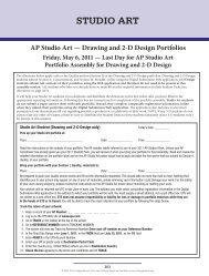 AP Studio Art — Drawing and 2-D Design - College Board