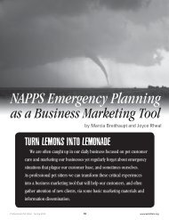 NAPPS Emergency Planning - National Association of Professional ...