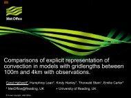 Title of Presentation - C-SRNWP Project