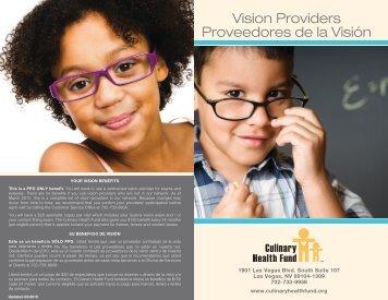 Vision Providers Proveedores de la Visión - the Culinary Health Fund