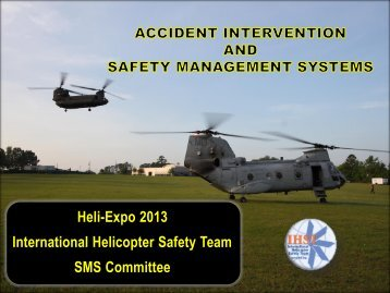 Accident Intervention and SMS - IHST