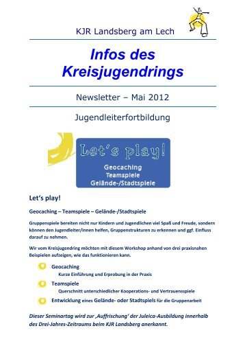 NewsletterKJR Landsberg - Nr. 85 Mai 2012.pdf - Kreisjugendring ...
