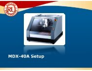 MDX-40A Setup Guide - Support