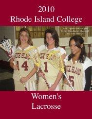 The 2010 Rhode Island College Women's Lacrosse Team