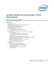 Intel® Ethernet Controller I210 Datasheet