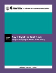 Say it Right the First Time: - Department of Public Health - Los ...