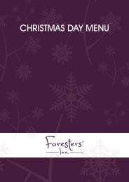 Christmas Day menu - Center Parcs