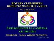 passaggio della campana ar 2011/2012 rotary club ribera