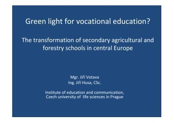 Green light for vocational education? The transformation of ...
