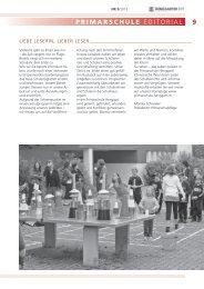 9 PRIMARSCHULE Editorial - Primarschule Henggart