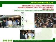 LAPORAN MAKLUMBALAS - JPBD Selangor