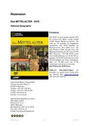 Rezension Das MITTELALTER - DVD
