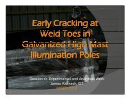 Early Cracking at Weld Toes in Galvanized High Mast Illumination ...