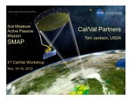 1. Cal/Val Partners (Tom Jackson, USDA/ARS) - SMAP