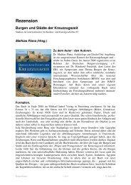 Rezension Burgen und Städte der Kreuzzugszeit - BINSY