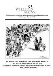 Schulzeitung Dezember 2012 - Bischöfliches Willigis Mainz