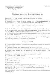 Espaces vectoriels de dimension finie - Université de La Rochelle