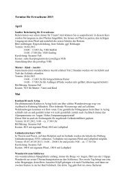 Termine für Erwachsene 2013 - Reiterhof Aschbach
