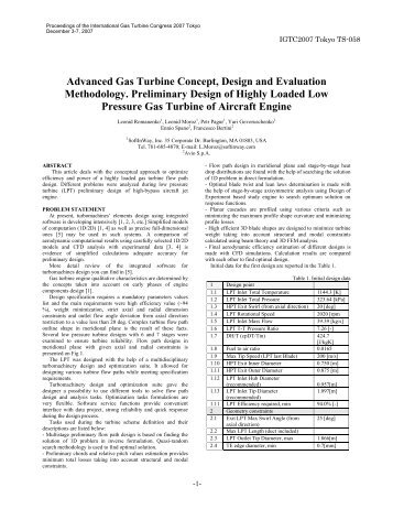 Advanced Gas Turbine Concept, Design and ... - SoftInWay Inc.