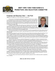 meet new york farm bureau's promotion and education committee