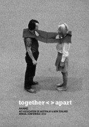together< >apart - The Art Association of Australia and New Zealand