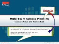 Multi-Team Release Planning Wrap-Up - Rally Software