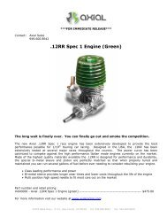 .12RR Spec 1 Engine (Green) - RC Tech
