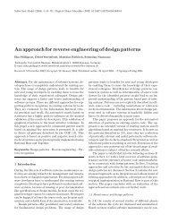 An approach for reverse engineering of design patterns - TU Ilmenau