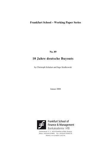 10 Jahre deutsche Buyouts - Frankfurt School of Finance ...