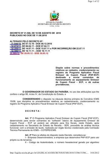 Cadastro do Programa Aplicativo Fiscal (PAF-ECF) - Secretaria de ...