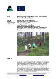 TITLE: Report on a field visit to Irkutsk Region and ... - Forests Monitor