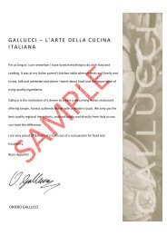 Gallucci Ala Carte _1 - Arora Hotel