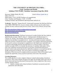 FNH 370 Syllabus 2013-001 - courses.landfood.... - University of ...