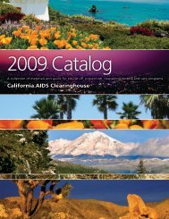 California AIDS Clearinghouse - Department of Public Health