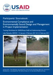 Environmental Compliance and Environmentally Sound Design and ...